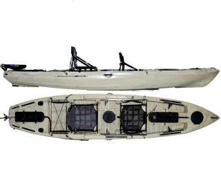 Caiaque Caiman 135 Duos Hidro2 Eko Pesca E Recreação  Com Leme Bege