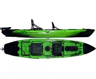 Caiaque Caiman 135 Duos Hidro2 Eko Pesca E Recreação  Com Leme Verde E Preto