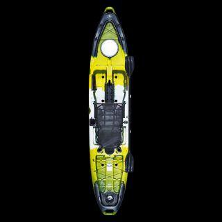 Caiaque Hook Com Pedal Milha Náutica Amarelo Camuflado