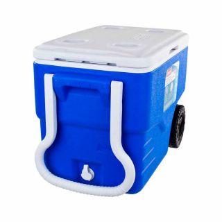 Caixa Termica Com Rodas 38l Azul Coleman