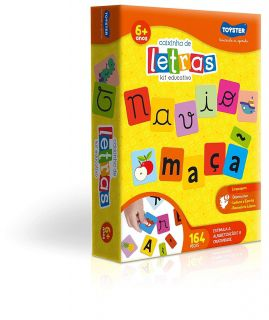 Caixinha De Letras 164 Peças Toyster