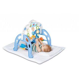 Centro De Atividades Infantil Mobile Móvel Baby Gym Calesita Menina Azul