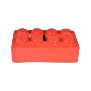 Cofre Ceramica Puzzle Vermelho Urban