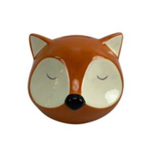 Cofre Ceramica Sleeping Raposa Fox 13X12,5X11,6cm Laranja Urban