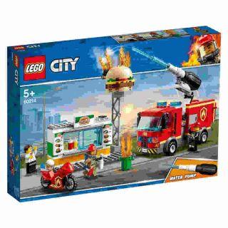 Combate Ao Fogo No Bar De Hamburgueres 327 Peças Lego