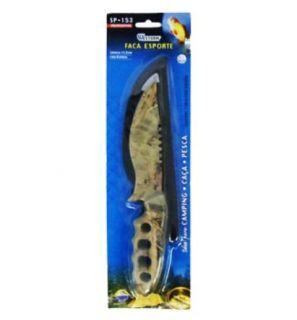 Faca Aço Inox Esporte Pesca Camuflada Cabo Em Abs Sp-153 Western
