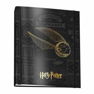Fichario Universitario 48 Folhas Com Elastico Harry Potter Dac
