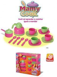 Jogo Cozinha De Brinquedo Mamy Coock Silmar