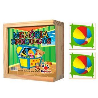 Jogo Memoria Brinquedos Madeira Cia Brink