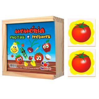 Jogo Memoria Frutas e Legumes Cia Brink