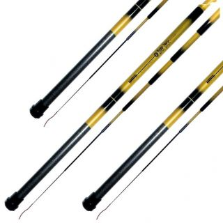 Kit 3 Varas De Pesca Telescopica Bamboo 1,8m 2,1m 2,4m Marine Sports