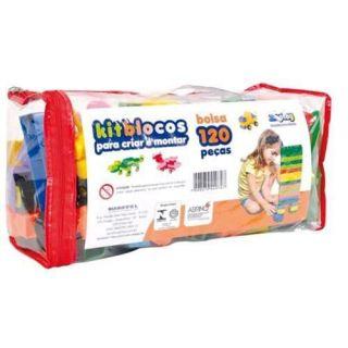 Kit Blocos 120 Pecas Maptoy