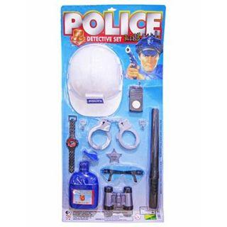 Kit Policial Set Com Capacete + Acessorios Art Brink