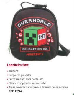 Lancheira Soft Minecraft Overworld Dmw