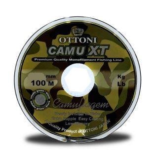 Linha Monofilamento Platinum XT Camuflada 100m 0.20mm Ottoni