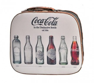 Maleta Mdf Lona Coca-Cola Bottle Evolution Creme Urban