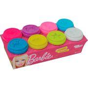Massinha 8 Potes Barbie Funny
