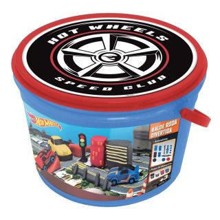 Massinha Balde Roda Radical Hot Wheels