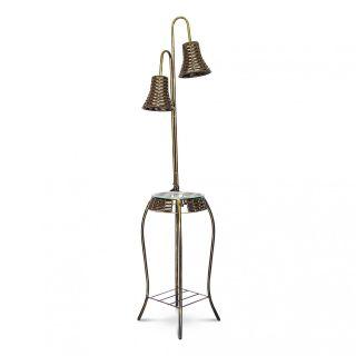 Mesa De Telefone Com Luminária 1,40x30x30 Cm Sofisticado Em Aço Decorlidi