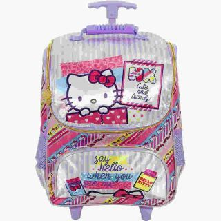 Mochila Carrinho 16 Hello Kitty Washi Pink Xeryus