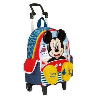 Mochila Com Rodinhas Grande Mickey 18y Sestini