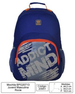 Mochila Escolar Costa Winth Addict Mind