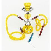 Narguile Pequeno 2 Saídas Amarelo Shisha
