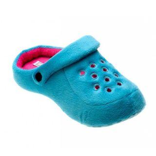 1816773e0 Pantufa Feminina Kick Azul Claro 36/37 Ricsen