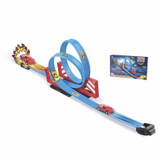 Pista Automotiva Brinquedo Duplo Looping Braskit