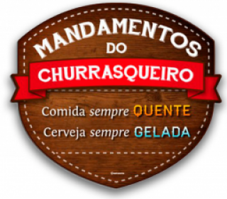 Placa Mandamentos Do Churrasqueiro Kathavento