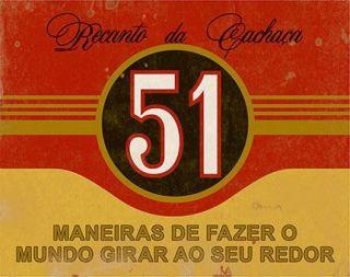 Placa Mdf 24x19cm Recanto Da Cachaça 51 Litoarte