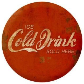 Placa Mdf 24x24,5cm Ice Cold Drink Litoarte