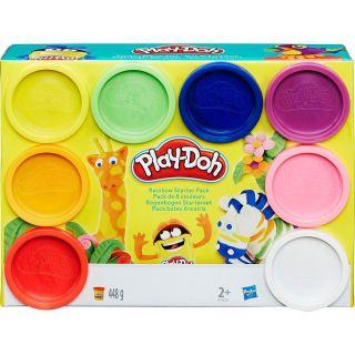 Play Doh Massa De Modelar Pack 8 Potes Arco Iris Hasbro