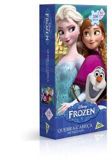 Quebra Cabeça Encapado Frozen 200 Peças Toyster