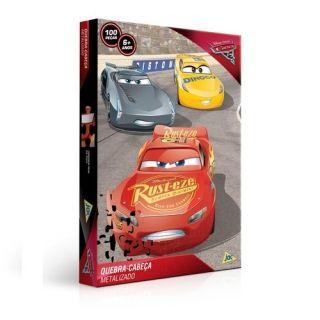 Quebra Cabeça Metalizado Carros 3 Toyster