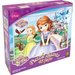 Quebra Cabeça Puzzle Gigante Princesinha Sofia 48 Peças Grow