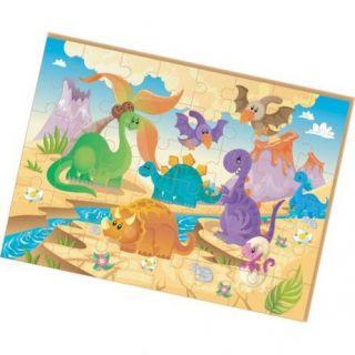 Quebracabeca Madeira Dinossauros Gigante 48 Pecas Brincadeira De Crianca