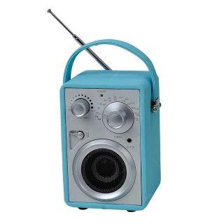 Radio AM/FM Plastico Pilot Azul Com Speaker Urban