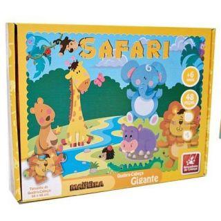 Safari Quebracabeça Gigante Brincadeira De Crianca