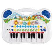 Teclado Musical Animal Azul Braskit