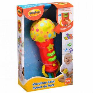 Winfun Microfone Baby Estrela Do Rock Yes Toys