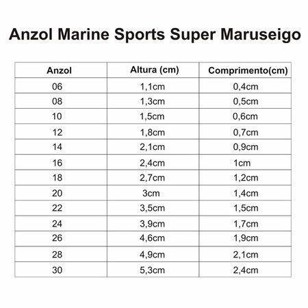 Anzol Marine Sports Super Maruseigo Cartela C/ 50 Unidades 12