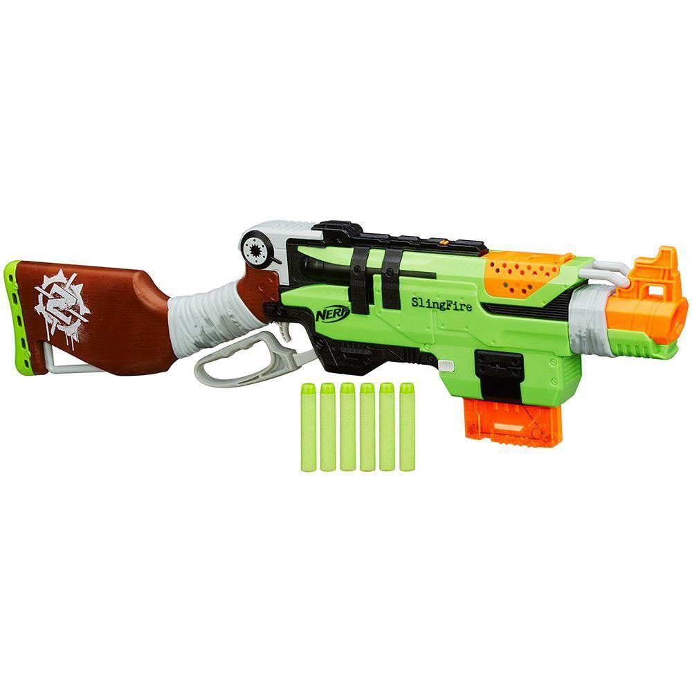 Atirador Nerf Zombiestrike Slingfi Hasbro