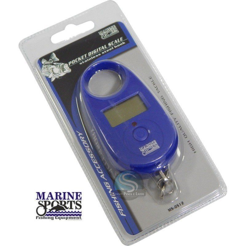 Balanca Pesca Pocket Digital Scale Peixe 25kg Ms-0512 Marine Sports