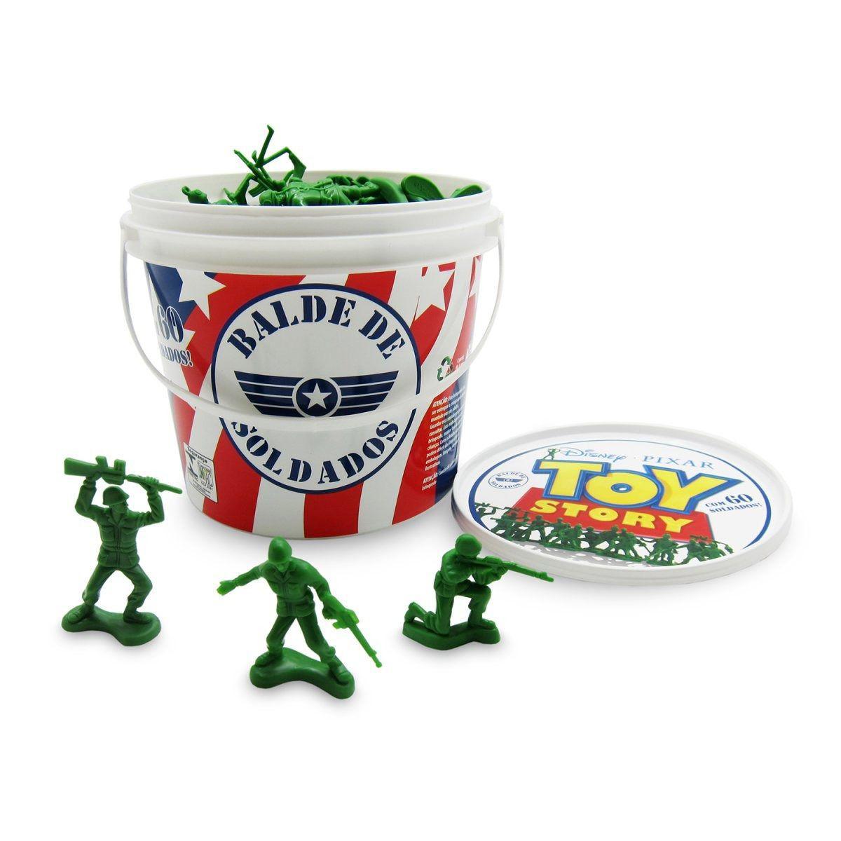 Balde Soldados Toy Story Plastico Toyng