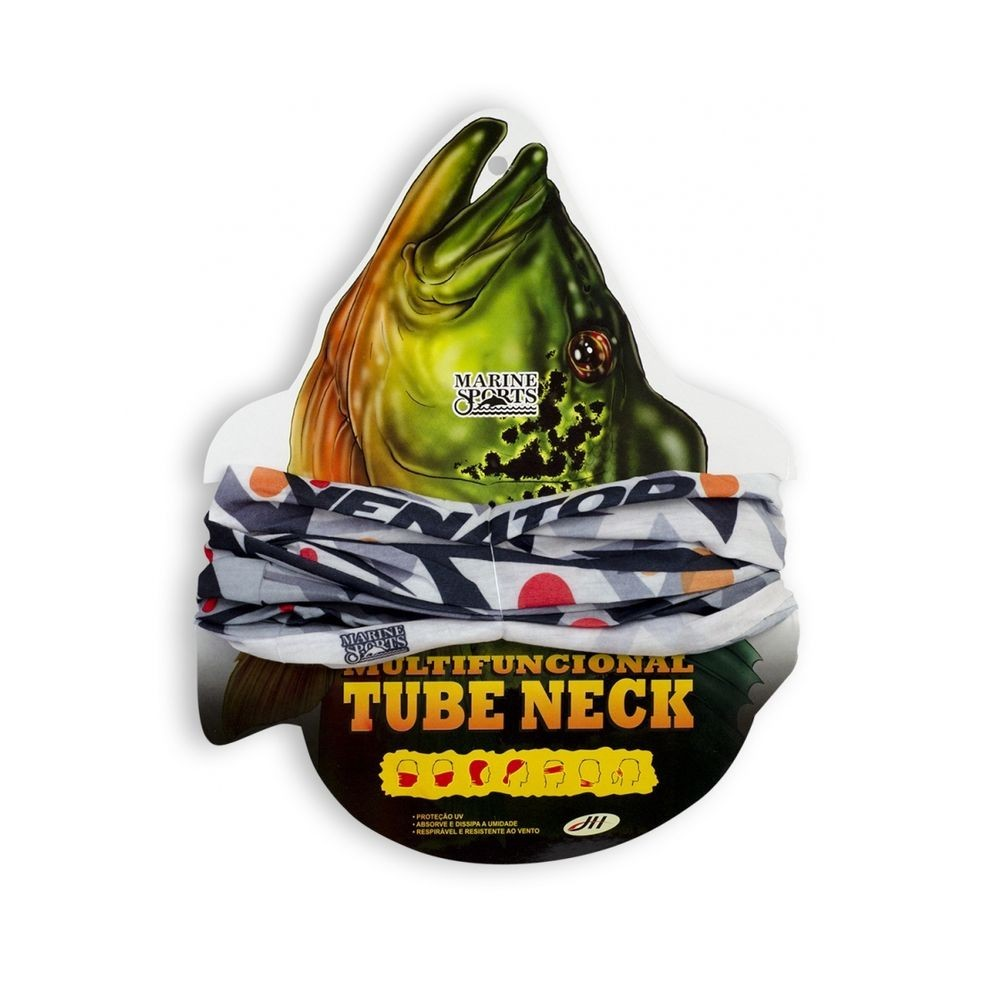 Bandana Lenço Multifunção Tube Neck Venator Proteção Solar Marine Sports