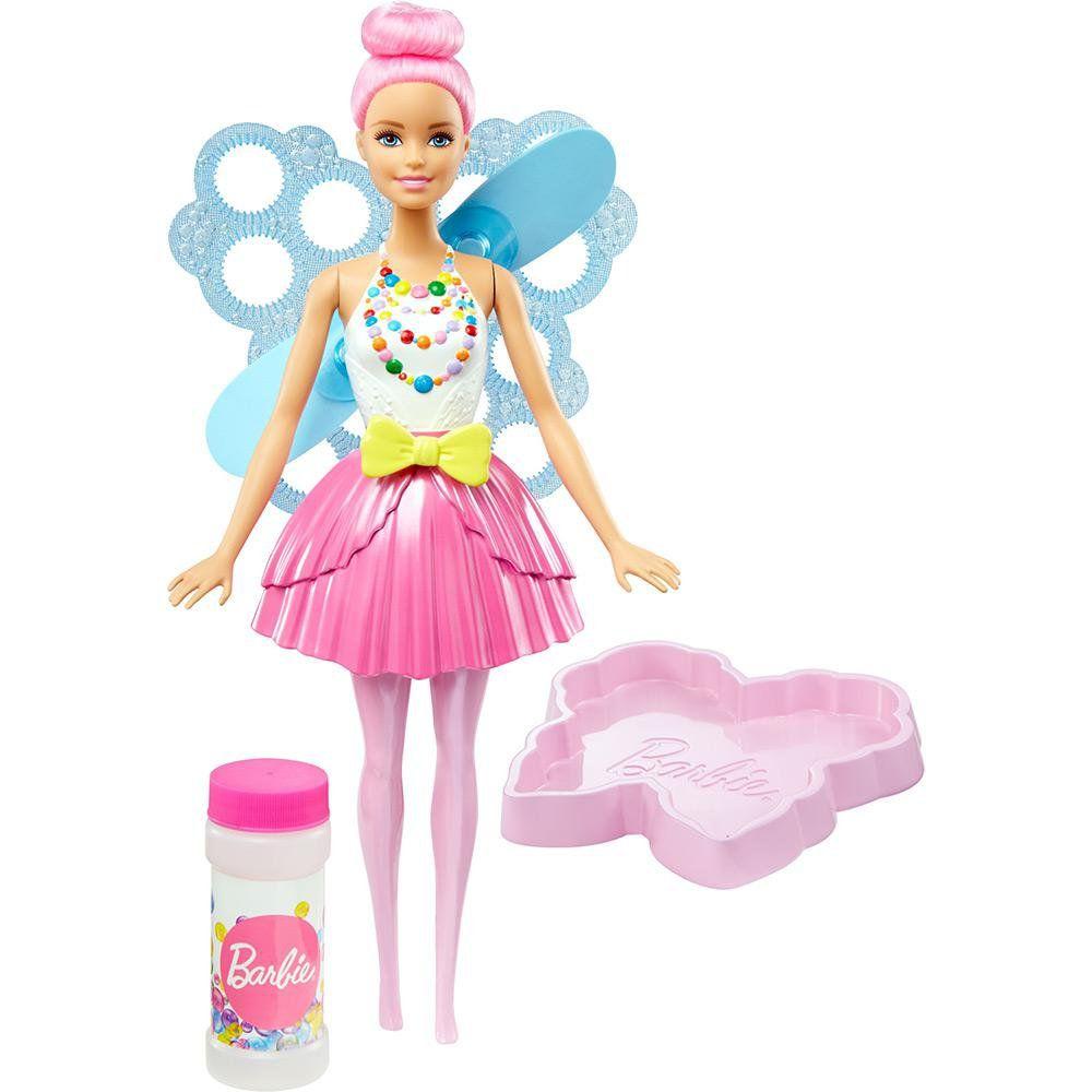 Barbie Fantasia Fada Bolhas Magica Mattel