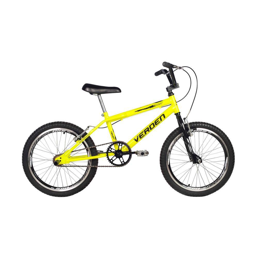 Bicicleta Aro 20 Masculina Trust Amarelo Neon Verden