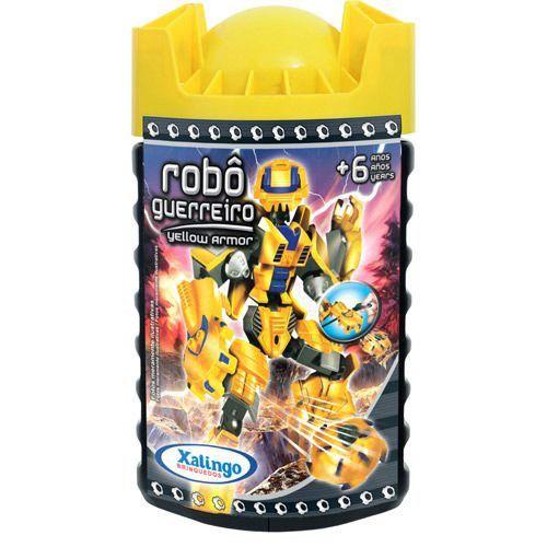 Blocos De Encaixe Robô Guerreiro Yellow Armor Xalingo