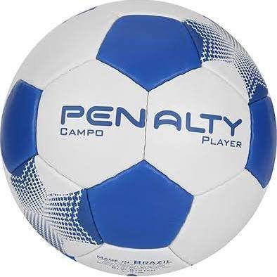 Bola Futebol Campo Penalty Player 7 Unissex Branco Azul